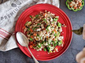 低脂营养减肥—双米杂蔬炒饭
