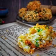 香菜芝士饭团~剩米饭也有春天