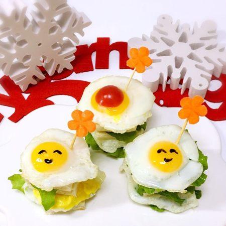 早餐煎蛋迷你三明治