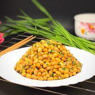 家常韭菜炒黄豆