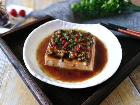 橄榄肉末蒸豆腐