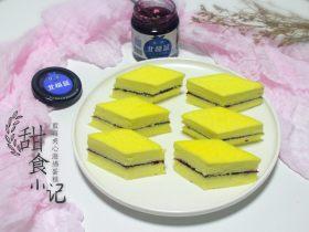 美味蓝莓酱棉花蛋糕