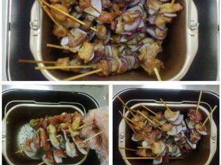烤肉串,串成串