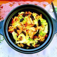 饭店里的明星菜系列➕干锅手撕包菜