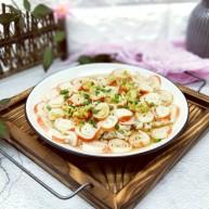 新年必备的双味儿蟹肉蒸金针菇