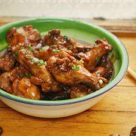 香菇焖鸡翅根