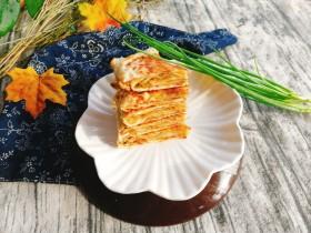 早餐饼--烫面千层葱香肉饼