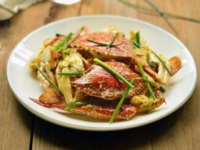 葱姜炒花蟹