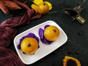 伪蛋黄酥~红薯豆沙球