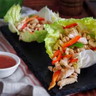 黑椒鸡肉生菜卷