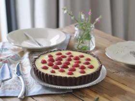 白巧克力樹莓塔