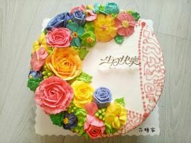 淡奶油奶油霜裱花