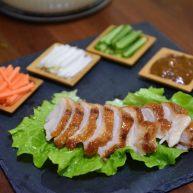 生菜卷烤鸭