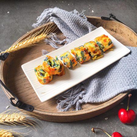 宝宝辅食10M➕:蔬菜奶酪鸡蛋卷
