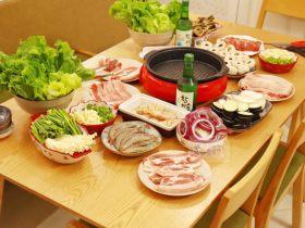 在家吃韩国烤肉