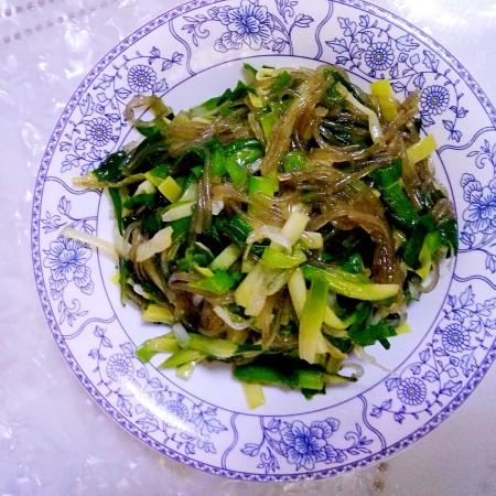 韭菜拌粉丝