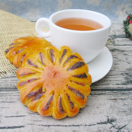 菊花紫薯面包