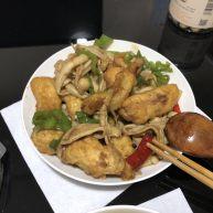 辣炒海鲜菇丸子