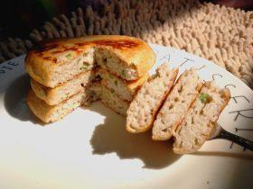 莲藕丝葱香鸡蛋早餐饼