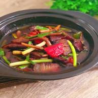 换个方法吃腊肉——干锅腊肉茶树菇