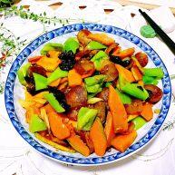 给南瓜桑换种吃法➕南瓜木耳炒香肠