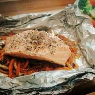 锡纸包烧鲑鱼