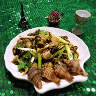 香葱拌小海螺