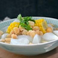干贝玉米萝卜汤