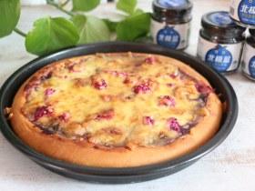 蓝莓酱水果披萨