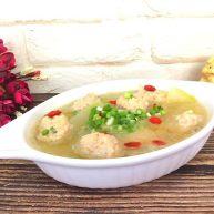 冬瓜蝦肉汆丸子湯