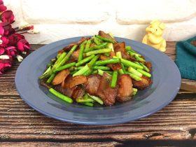 蒜苔炒腌肉