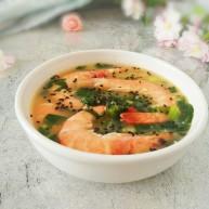 #辅食计划#莴苣叶鲜虾米汤