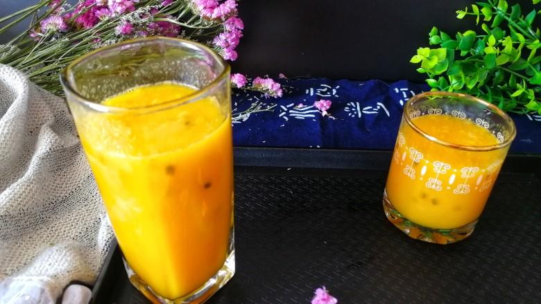 百香果+芒果苹果汁
