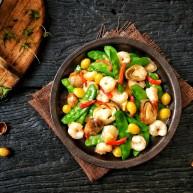 菌类料理+荷兰豆草菇虾仁