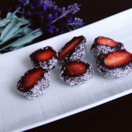 椰蓉紫薯草莓球