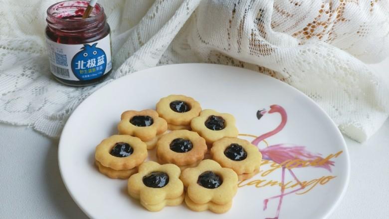 蓝莓酱夹心饼干