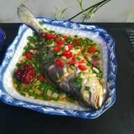 #舌尖上的乡愁#好看更好吃的清蒸黄瓜鱼