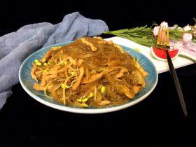肉丝豆芽炒粉条