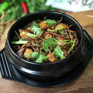 #菌类料理# 麻辣茶树菇干锅
