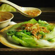 好吃的轻食水煮菜,蒜蓉淋生菜