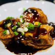 上海菜,油面筋塞肉