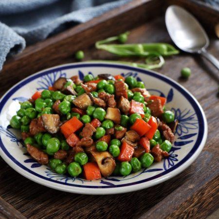 肉末豌豆炒时蔬