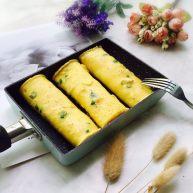 营养早餐~香葱虾皮鸡蛋饼