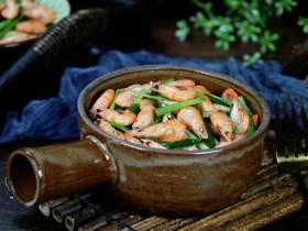 小白虾拌韭菜