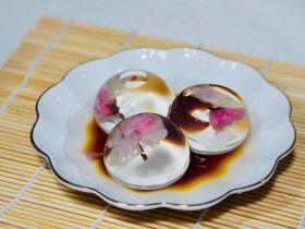 日料,改良版樱花水信玄饼