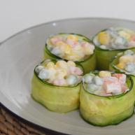 好吃又好看的黃瓜色拉卷,一學就會,還不快來試試