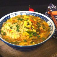 菌类料理+西红柿鸡蛋口蘑汤面条