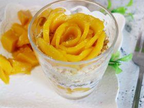 芒果冰激凌木糠杯