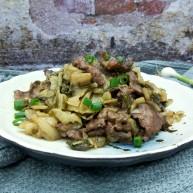 腌白菜炒牛肉
