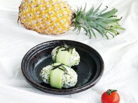 春意盎然之西蘭花海苔飯團